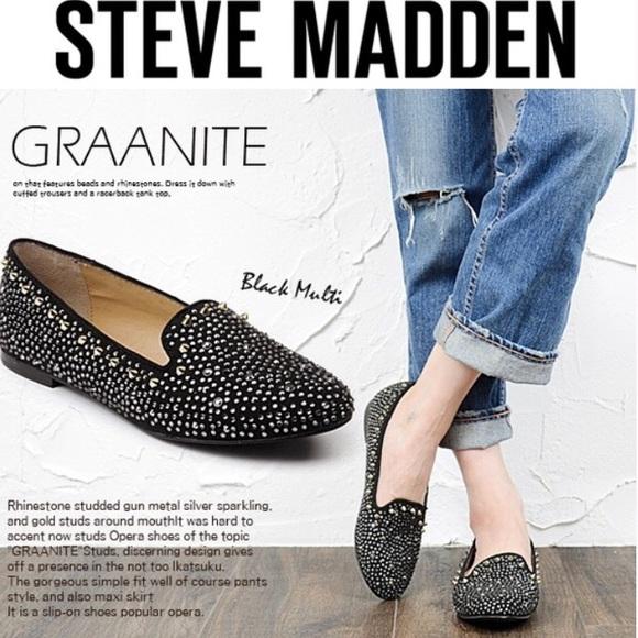 Graanite Black Studded Flats